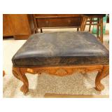 Leather Upholstered footstool