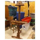 Large Wooden Easel; Adjustable