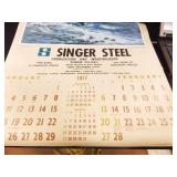 1977, 1978 Singer Steel Advertising Calendars