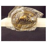 1981 National Finals Rodeo Buckle