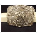 1986 National Finals Rodeo Buckle