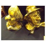 "Bookends, Clowns 5¼"" tall"