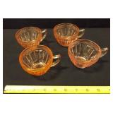Adams Pink Glass Cups - 4 count