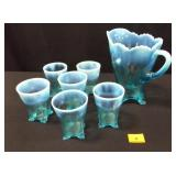 Jefferson Glass Pitcher and Tumblers - 7 count
