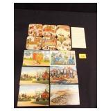 Vintage Coasters (Oriental) 7 postcards (sent)