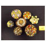 Glass Paperweights (7 total)