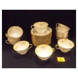 Noritake Tea Cups/Saucers (12, 2 saucers chipped)
