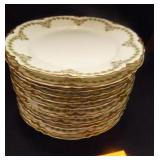 Haviland (France) Limoges China White w/green/Gold