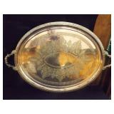 "Silver Footed Tray with Handles 28½"" x 19½"""