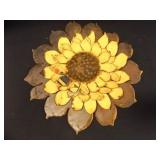 "Sunflower Metal Art; Signed-""Ponytail"