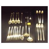Various Silverware Items, some sterling silver
