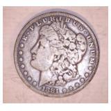 1881 MORGAN DOLLAR, S MINT