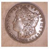 1890 MORGAN DOLLAR, NO MARKINGS