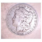1902 MORGAN DOLLAR, NO MARKINGS