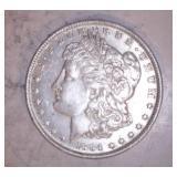 1884 MORGAN DOLLAR, O MINT