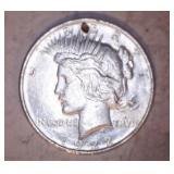 2 - 1922 PEACE DOLLARS, NO MARK