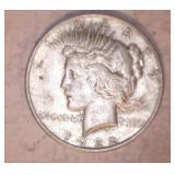 2- 1922  PEACE DOLLARS, NO MARK