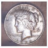 3 - 1922 PEACE DOLLARS, NO MARK