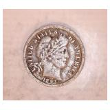 1893 O BARBER DIME COIN