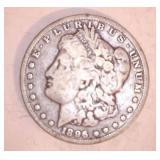 1896 MORGAN DOLLAR, NO MARKINGS