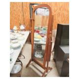 Standing Mirror w/Wood Frame