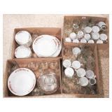 Large amount Christmas Plates/Glasses