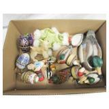 Small Decorative Eggs, Ducks, Misc. Toys