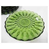 Avocado Dish Set - Plates, Punch Cups, Sherbets