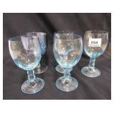 Blue Stemware Glass