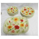 Flower Pattern Plate Set