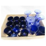 4 Stemware Glasses, 9 Coffee Mugs