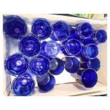 Blue Glass Plates & Bowls