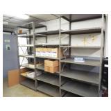 8 Metal Shelves