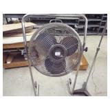 "18"" fan with stand and light on stand"