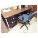 Steel Frame Desk / Formica Top