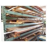 Heavy Duty Metal shelving/Asst Aluminum sheets