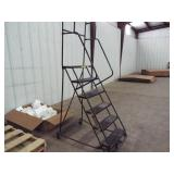 Rolling ladder Step Ladder w/ 6 steps