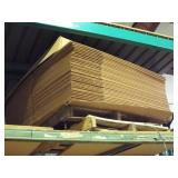 Assortment of Cardboard on lot 265 shelving