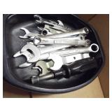 Small SAE end wrenches, files, tin snips