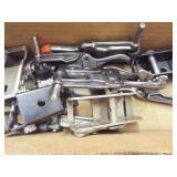 C Clamps, asst clamps, 5 ea. caulking guns
