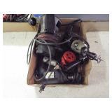 Heat gun, router, 2 ea. electric drills