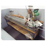 Hitachi Compound miter saw and table