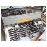 7 ea. set drill bits in metal cases