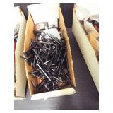 1 Box of Allen wrenches and tape measures