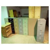 10 ea. Four drawer Metal filing cabinets