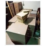 11 ea. Metal filing cabinets