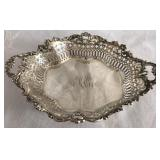 Antique Sterling Silver filigree dish