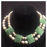 Vintage Pearl and Glass choker