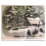"""""""The Camp House,"""" Lumbering in Maine and New Bruns"""
