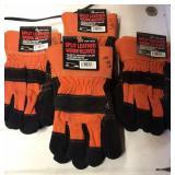 Split leather work gloves-med